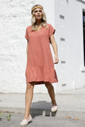 Betty Basics Ryland Linen Dress in Rose