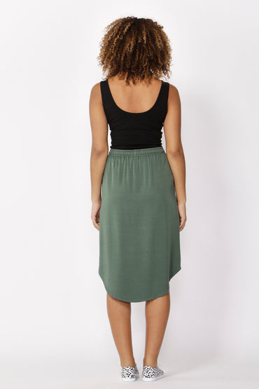 Betty Basics Carson Skirt in Forest