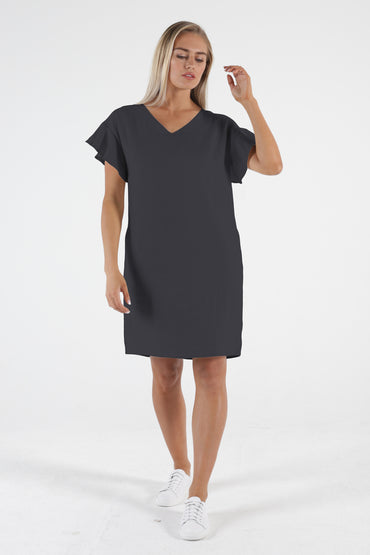 Betty Basics Sasha Midi Dress in Indi Grey Sizes 8