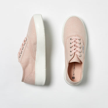 Betty Basics Traveler Sneaker in Pink Herringbone