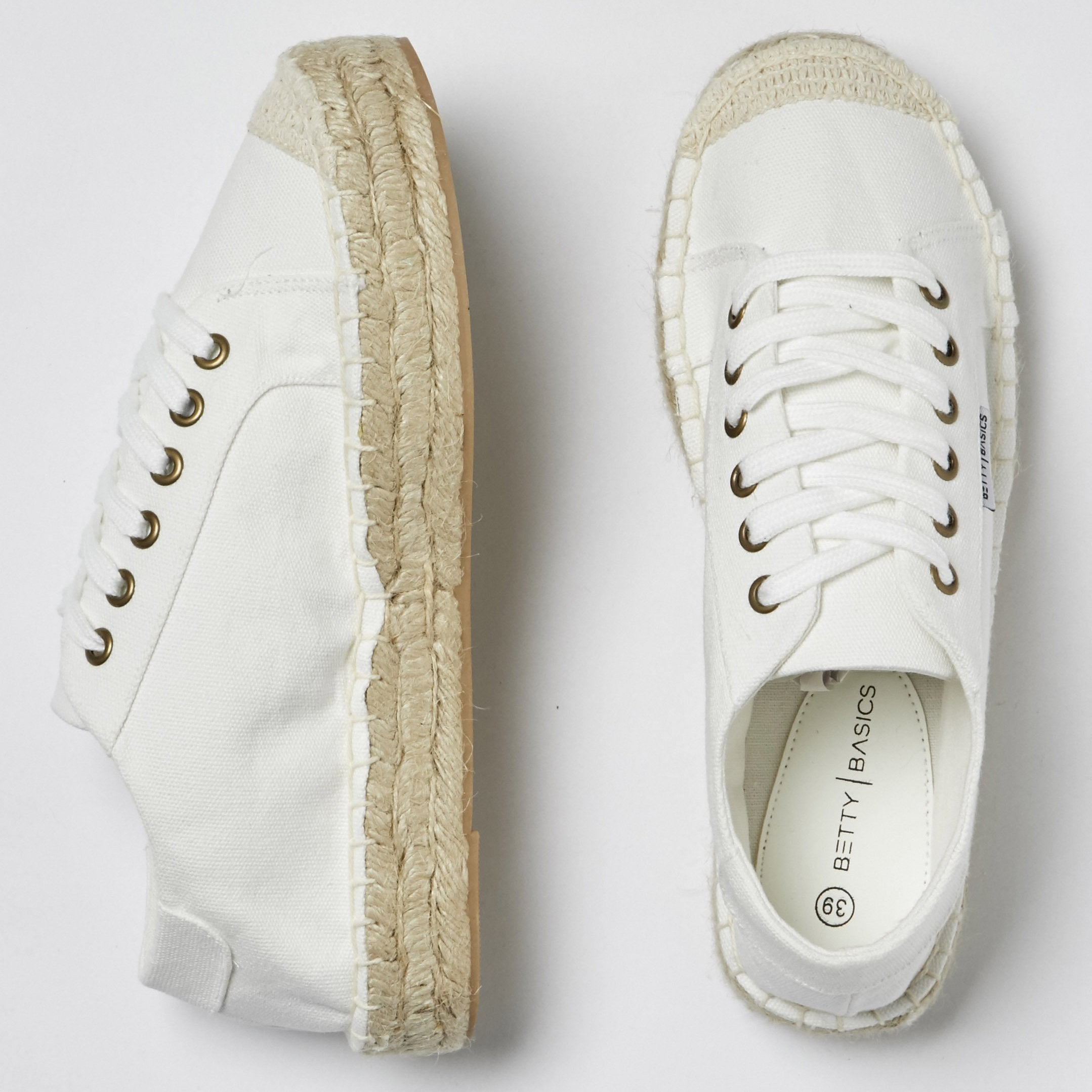 Betty Basics Voyage Espadrille Sneaker in Off White
