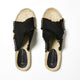 Betty Basics Seeker Espadrille Slide in Black