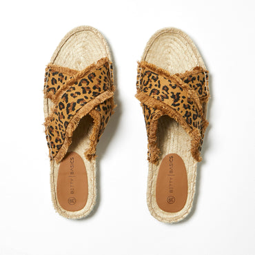 Betty Basics Seeker Espadrille Slide in Leopard SIZE 10 ONLY