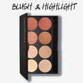 Gorgeous 8 Pan Blush Palette - Blush and Highlight