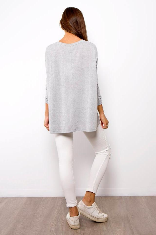 For Twentyone Long Sleeve Swing Jumper in Grey
