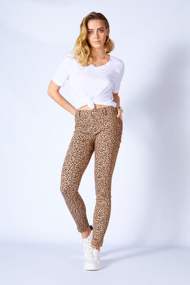 Betty Basics Mason Jean - Beige Leopard SIZE 6 and 8 ONLY
