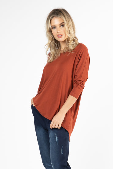 Betty Basics Milan Top in Terracotta LAST ONE Size 16