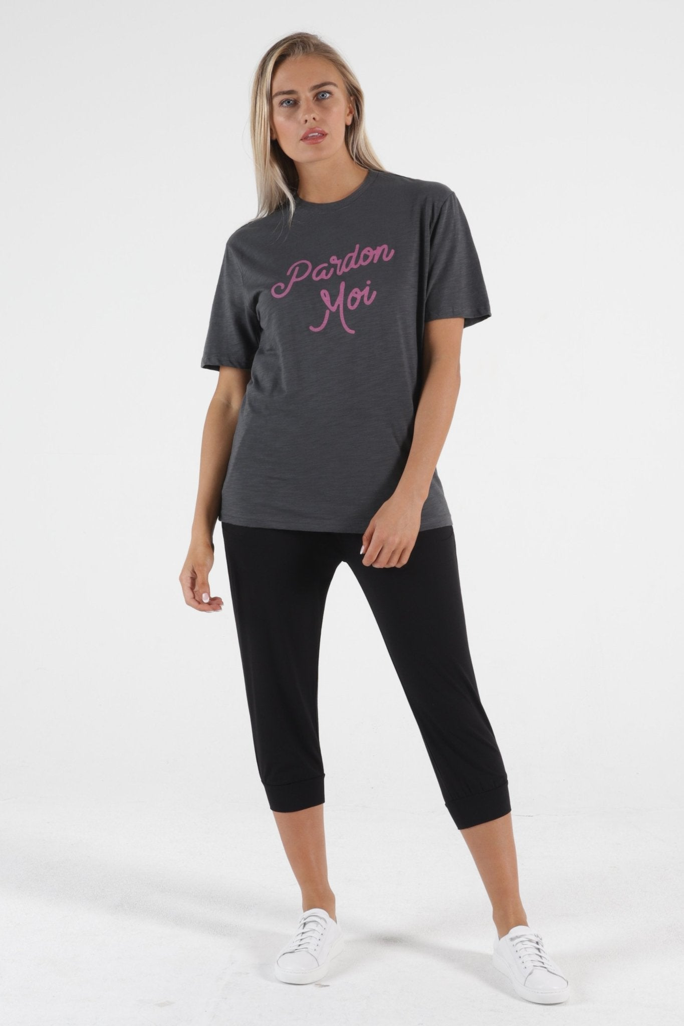 Betty Basics Ariana Tee in Indi Grey - Pardon Moi - Hey Sara