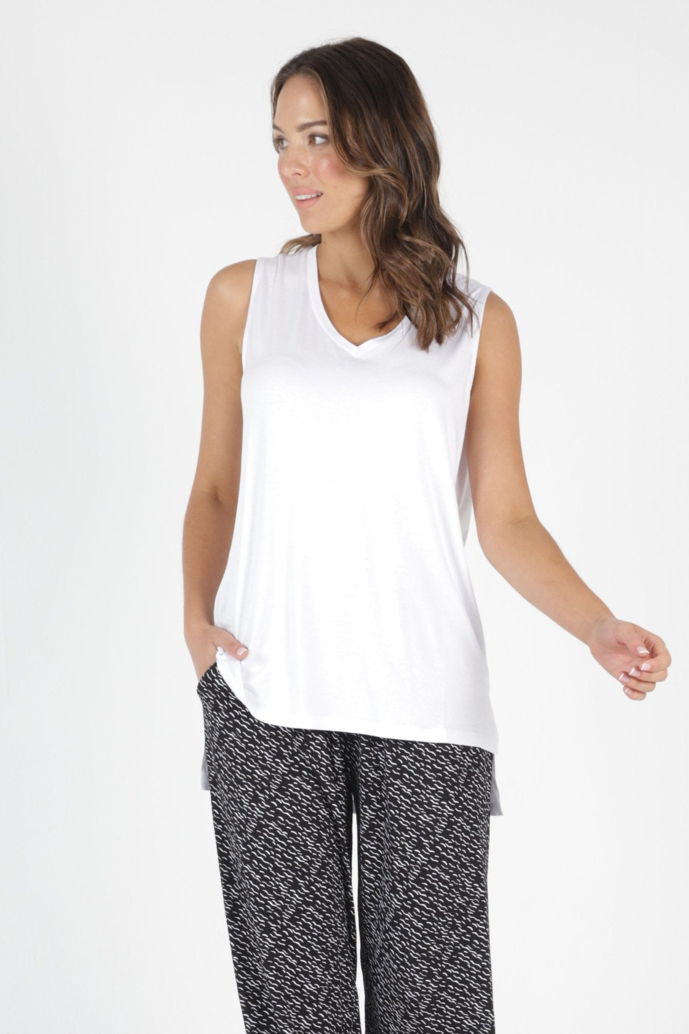 Betty Basics Barbados Tank in White - Hey Sara