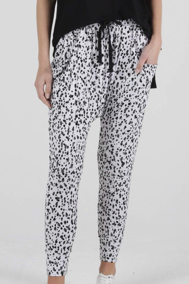 Betty Basics Barcelona Pants in Dalmatian Print - Hey Sara