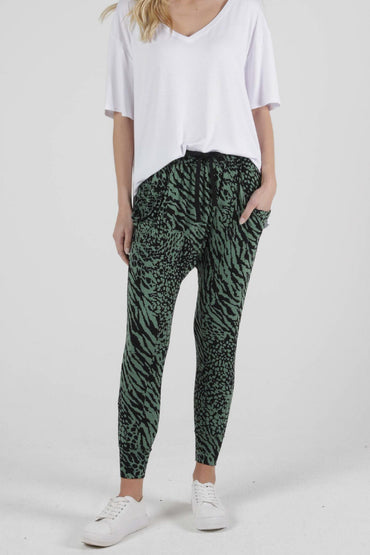 Betty Basics Barcelona Pants in Sage Instinct Print - Hey Sara