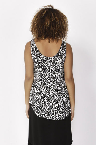 Betty Basics Boston Tank Top in Brush Print - Hey Sara