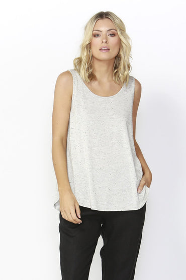 Betty Basics Boston Tank Top in Gold Fleck Size 6 ONLY - Hey Sara