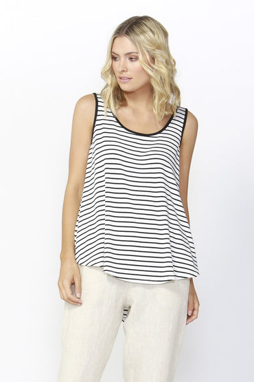 Betty Basics Boston Tank Top in Stripe Sizes 6 or 10 Only - Hey Sara