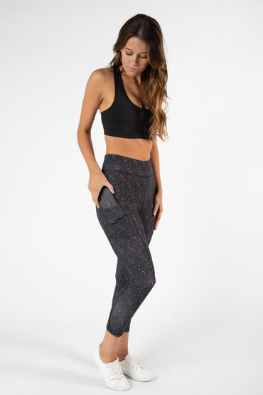 Betty Basics Bounce Leggings 7/8 Length in Utopia Print - Hey Sara