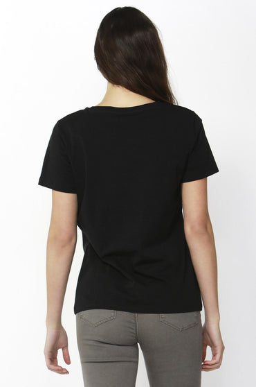Betty Basics Cara Tee in Black Leopard Sequin Sizes 8 or 10 - Hey Sara