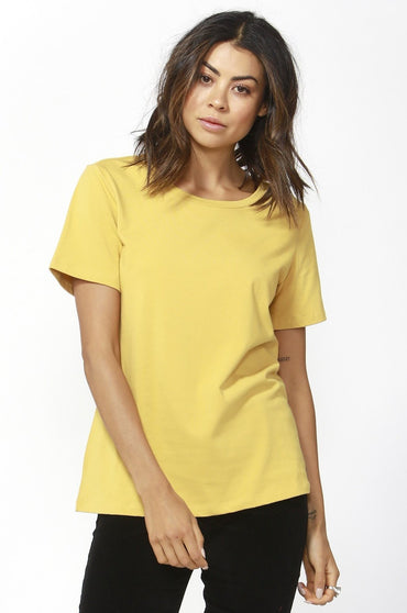 Betty Basics Cara Tee in Mustard Sizes 8 10 or 12 - Hey Sara