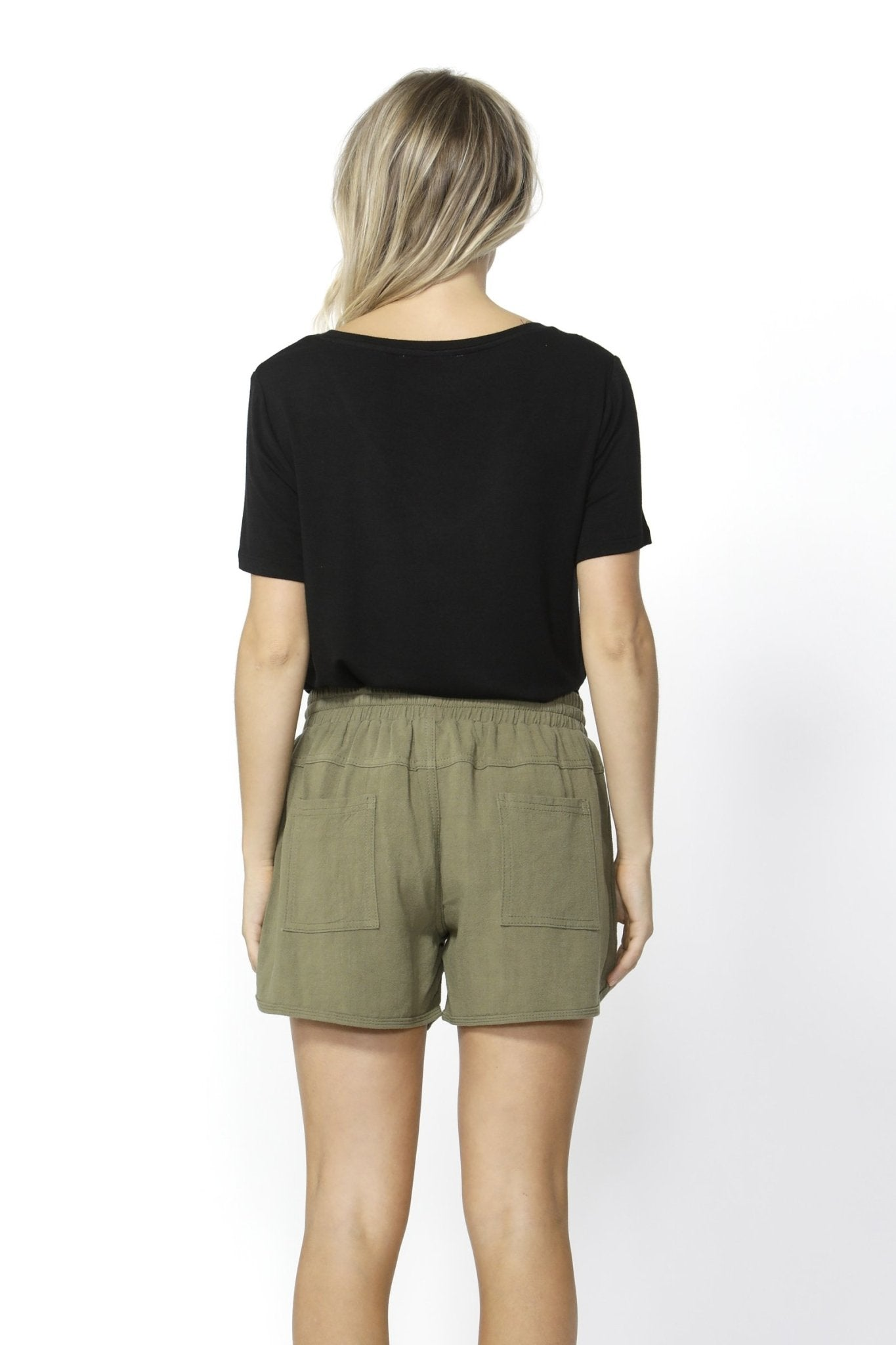 Betty Basics Charlie Linen Short in Khaki - Hey Sara