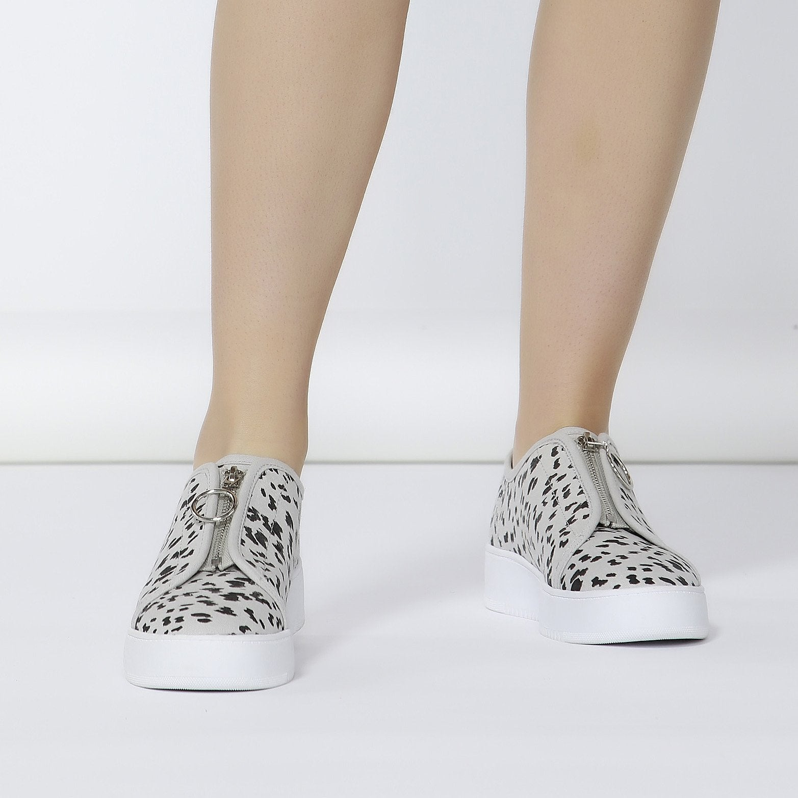 Betty Basics Cruise Zip Sneaker in Leopard Size 5 and 6 ONLY - Hey Sara