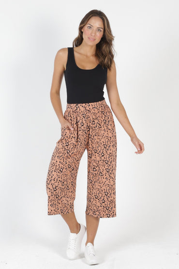 Betty Basics Dublin Cropped Pants in Lynx Print - Hey Sara