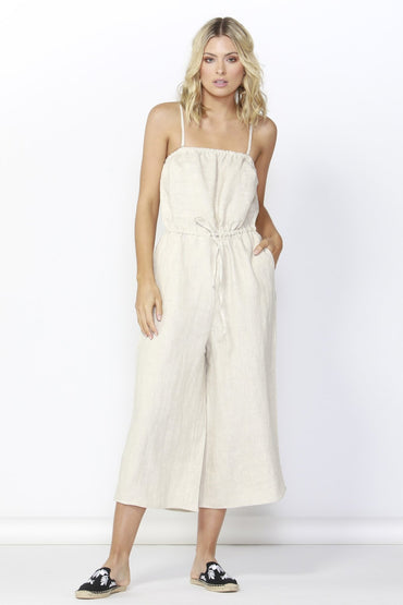 Betty Basics Finn Linen Jumpsuit in Natural - Hey Sara