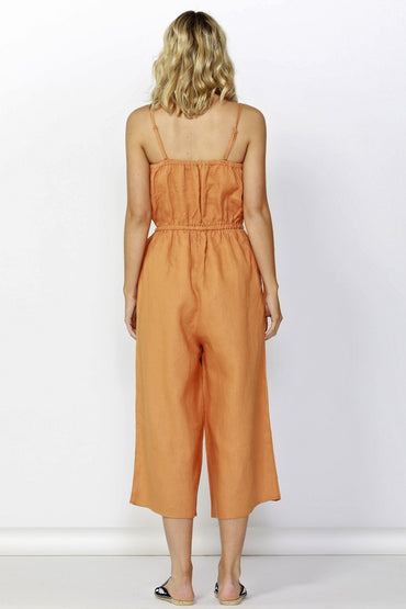 Betty Basics Finn Linen Jumpsuit in Rust - Hey Sara