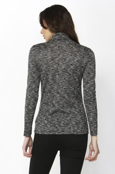 Betty Basics Glasgow Top in Melange Spot - Hey Sara