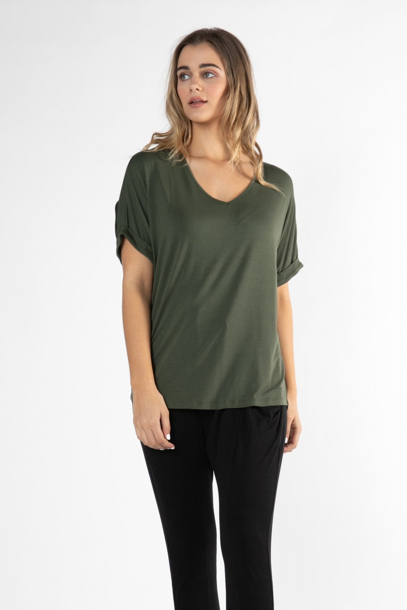 Betty Basics Granada Oversized Tee in Olive Size 10 Only - Hey Sara