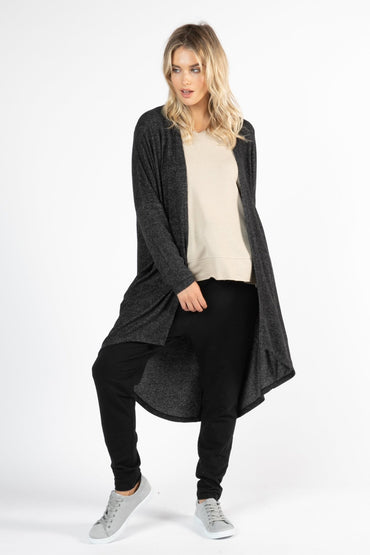 Betty Basics Harlow Cardigan in Charcoal - Hey Sara