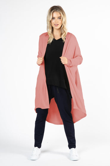Betty Basics Harlow Cardigan in Dusty Rose - Hey Sara