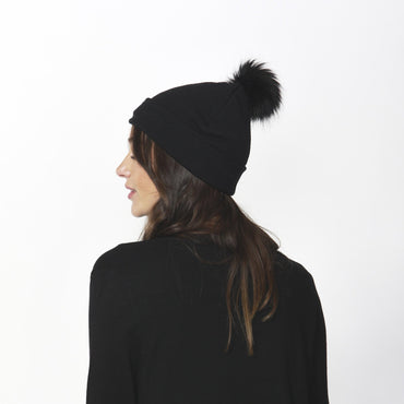 Betty Basics Harper Knit Beanie in Black - Hey Sara