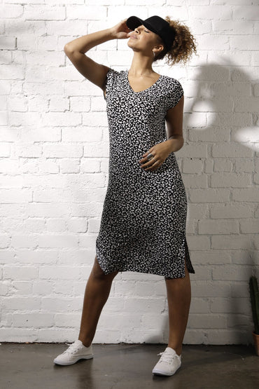 Betty Basics Hvar Midi Dress in Brush Print Size 8 Only - Hey Sara