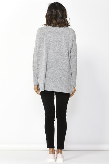 Betty Basics Ivo Cosy Pullover in Storm Grey - Hey Sara