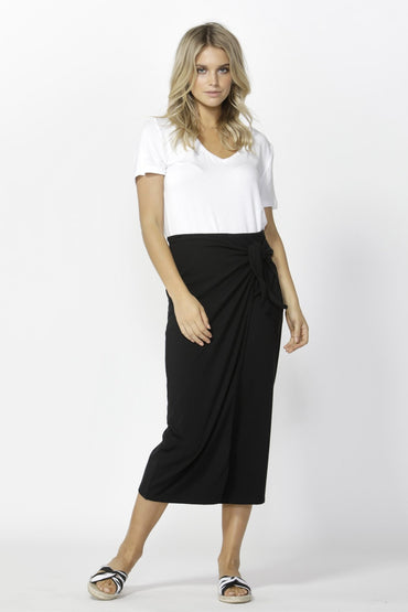Betty Basics Lana Midi Skirt in Black Size 8 ONLY - Hey Sara