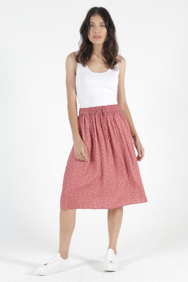 Betty Basics Landon Skirt in Ditsy Heart - Hey Sara