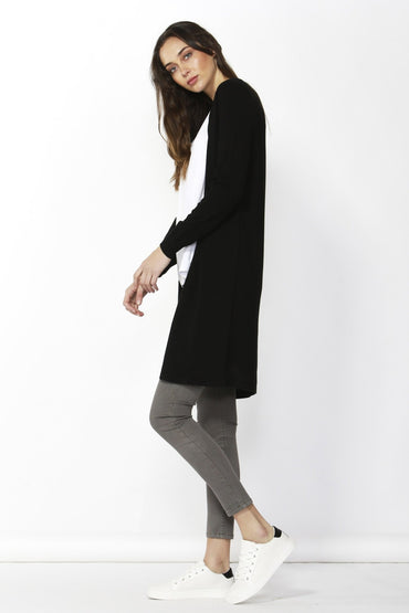 Betty Basics Leah Knit Cardigan in Black SIZE XS AND L ONLY - Hey Sara
