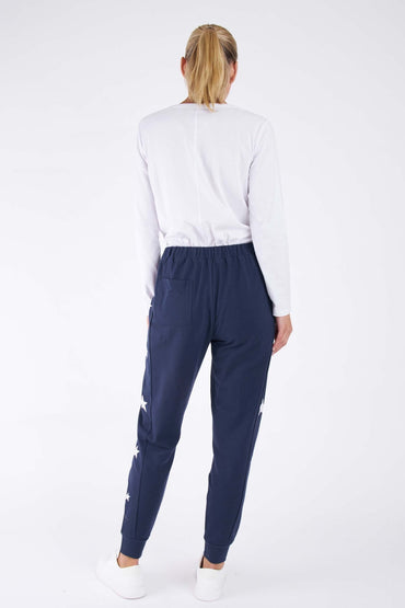 Betty Basics Lindsay Jogger in Navy Star - Hey Sara