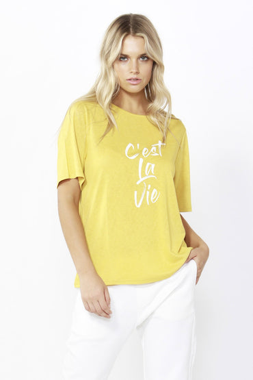 Betty Basics Los Angeles Tee in Daffodil Yellow Size 8 ONLY - Hey Sara