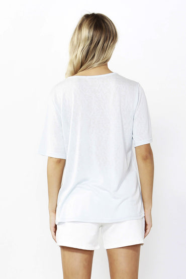 Betty Basics Los Angeles Tee in Ice Blue Sizes 8 10 or 12 - Hey Sara