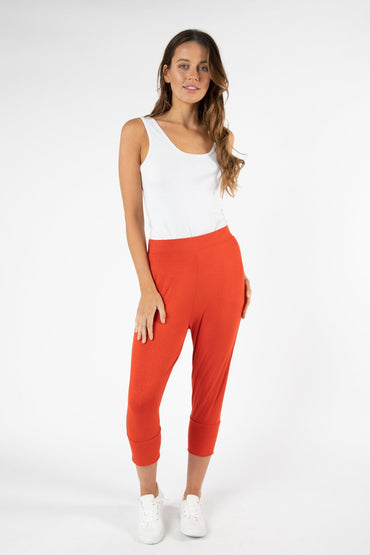 Betty Basics Lyon Pant in Sunset Red - Hey Sara