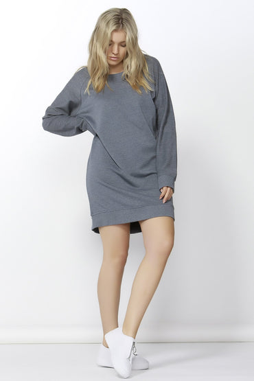 Betty Basics Nico Sweater Dress in Slate Blue Size 6 or 8 Only - Hey Sara