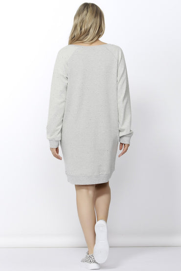 Betty Basics Nico Sweater Dress in Speckled Grey Marle Size 6 or 8 Only - Hey Sara