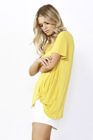 Betty Basics Phoenix Tee in Daffodil Yellow Size 8 Only - Hey Sara