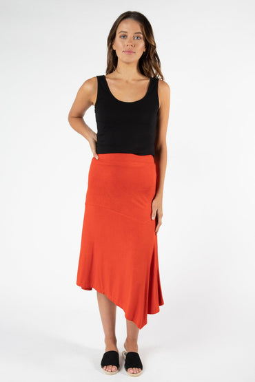 Betty Basics San Pablo Skirt in Sunset Red - Hey Sara