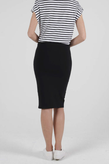 Betty Basics Siri Midi Skirt in Black - Hey Sara