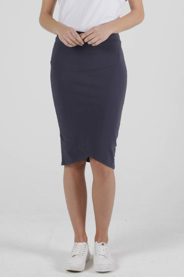 Betty Basics Siri Midi Skirt in Blue Stone - Hey Sara