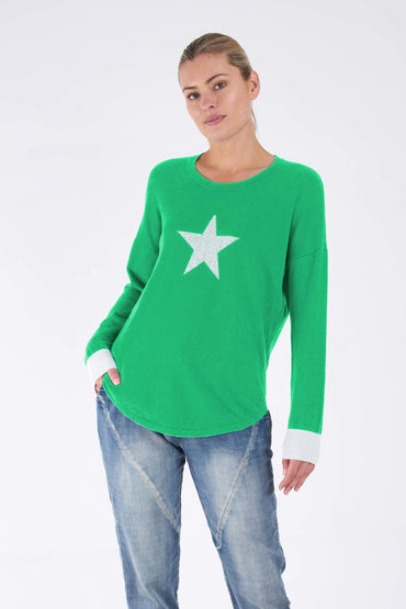 Betty Basics Sophie Knit Jumper in Apple Star - Hey Sara