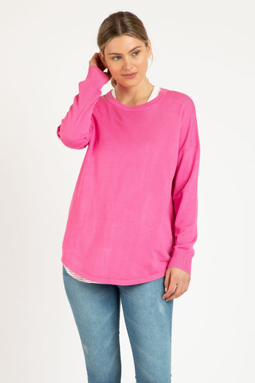 Betty Basics Sophie Knit Jumper in Orchid - Hey Sara