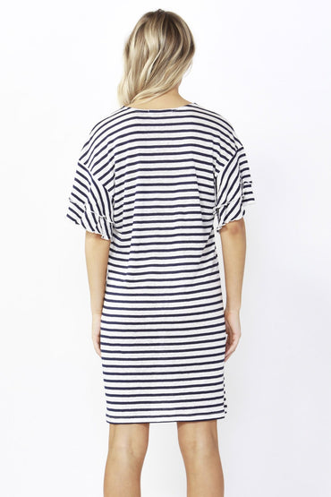 Betty Basics Sydney Dress in Ink Stripe Size 8 Only - Hey Sara