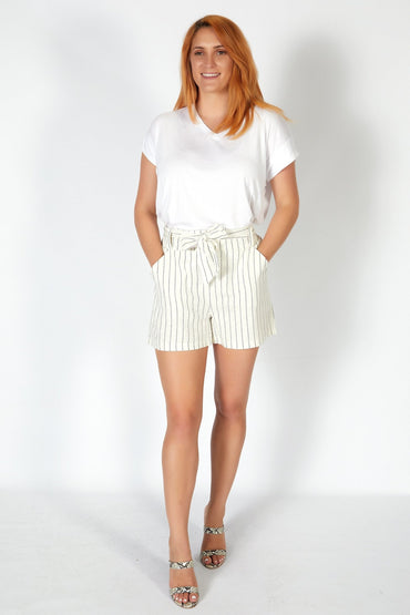 Betty Basics Tyler Short in White Pinstripe - Hey Sara
